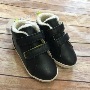 Koala Kids Navy Lime Sherpa Boots NEW NWT Shoes